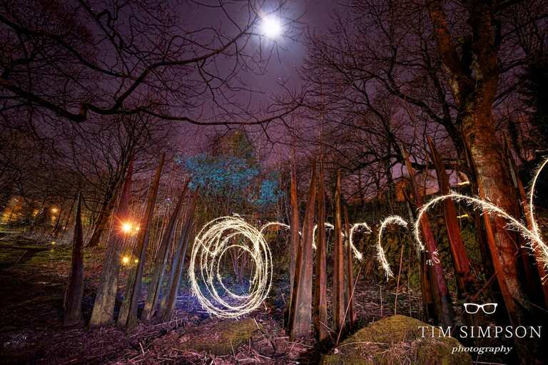stepping stones light painting 41
